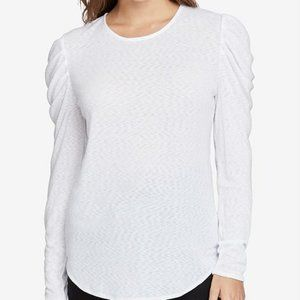 Rachel Roy NWT White Gemima Drape Shoulder Blouse